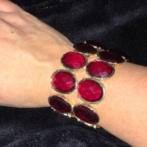 Coldwater Creek Stacked Stretch Crystal Bracelet